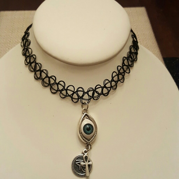 Jewelry All Seeing Eye With Ankheye Of Ra Tattoo Choker Poshmark
