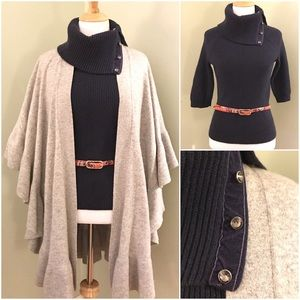 Ann Taylor embellished cowl neck sweater