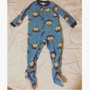 Gerber Other - NWOT blue monkey feetie pajamas