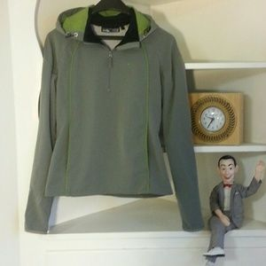 Oakley Tops - Oakley grey and green hooded windbreaker