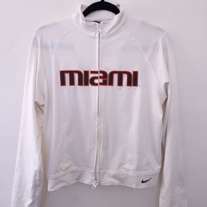 University of Miami Nike Track Jacket