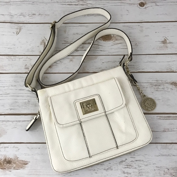 🌸 Anne Klein Cross-body White Bag