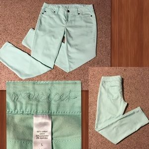 Maurices Denim - Maurice's light Green Jeans Size L