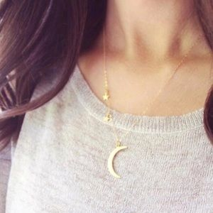 WILA Jewelry - ⭐️sale🌙moon & stars delicate gold plated necklace