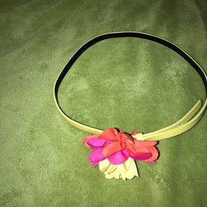 "34"" skinny yellow flower belt NWOT"