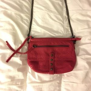 Deena & Ozzy Handbags - Pink over the shoulder purse with removable straps