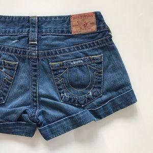 """True Religion Pants - [True Religion] """"Jess"""" cuffed jean shorts 26"""