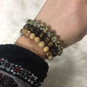 Jewelry - Handmade 3pc beaded bracelets