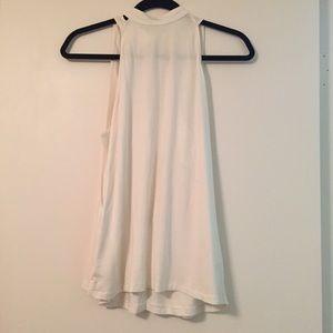 RVCA Tops - RVCA cream colored backless drapey top