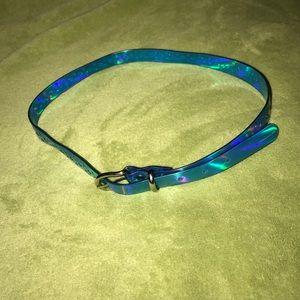 """Other - 30"""" blue psychedelic shimmering belt NWOT"""