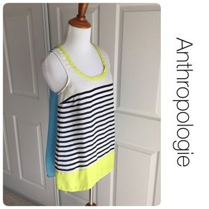 Anthropologie Tops - Anthropologie striped racerback tank by Maeve xs