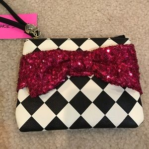Betsey Johnson Handbags - 💋Only Today! Betsey Johnson sequin wristlet