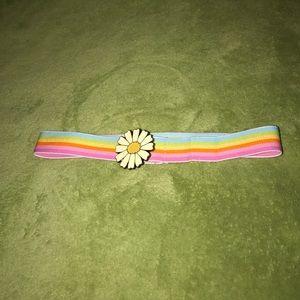 "Other - 21-38"" elastic rainbow belt w/ daisy enclosure"