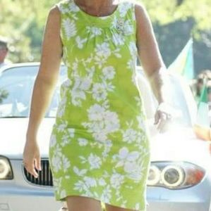Kim Rogers Dresses & Skirts - Green and white sleeveless dress