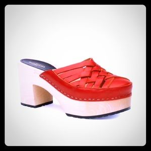 Swedish Hasbeens Shoes - NWOB bright cherry red Swedish Hasbeens!