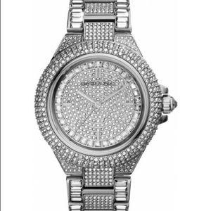 b683e16b81b4 Michael Kors Jewelry - SALE Michael Kors Silver-Tone Glitz Camille Watch
