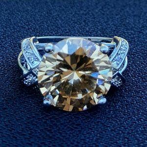 Jewelry - NWOT - Ring -Morganite + Wht Sapp.925 SS