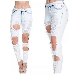 American Bazi Denim - Plus Jeans Skinny Stretch Low Acid Ripped New