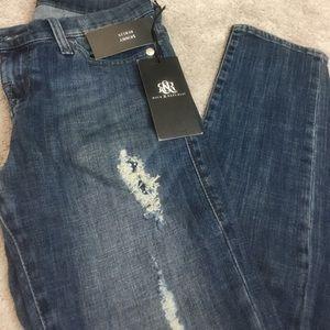 Rock & republic rhinestone skinny jeans. Size 4m.