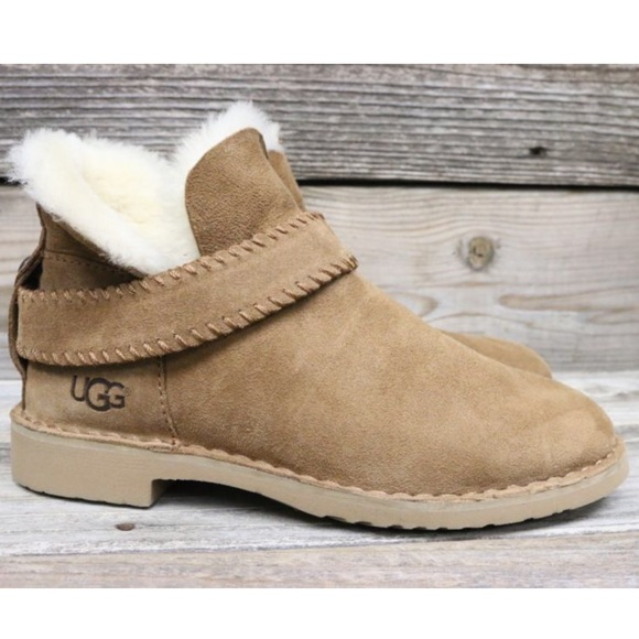 48143fd039c UGG McKay Chestnut Sheepskin Ankle Boots US 8 NEW!