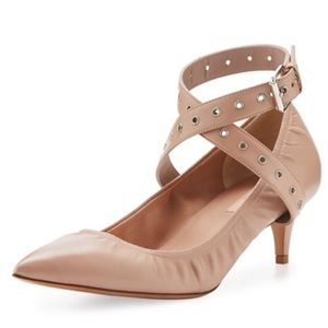 Valentino Love Latch 45 grommeted ankle wrap pump