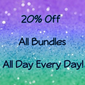 20% Off All Bundles of 2 or More Items Automatic!