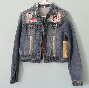 Jackets & Blazers - NWT Distressed denim jacket