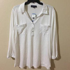 NWT Jones NY Signature white blouse