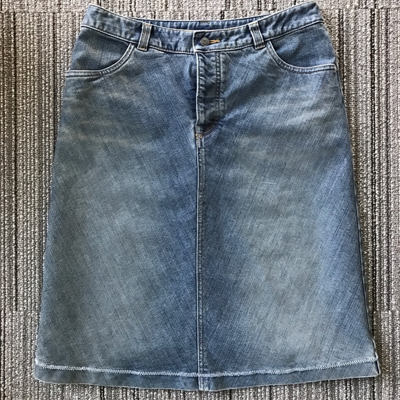 d118d2cd1f Royal Robbins Skirts | Button Fly Aline Denim Skirt | Poshmark