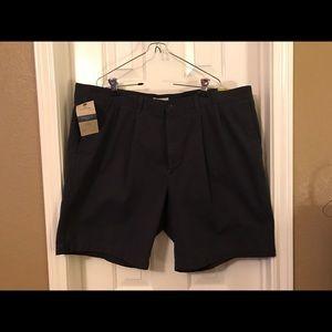 Dockers Other - Dockers Navy Blue Pleated Khaki Shorts Size 44 NWT