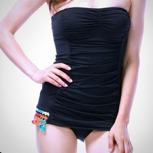 Coco Rave Other - Coco Rave black swim dress with ruched detail