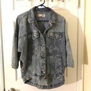 Boohoo Jackets & Blazers - Boohoo oversized acid wash hi low denim jacket