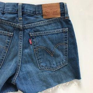Levi's Pants - [Levi's] distressed cutoff jean shorts 26