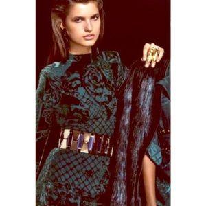 Balmain Dresses & Skirts - Balmain H&M Flocked velvet dress size 8