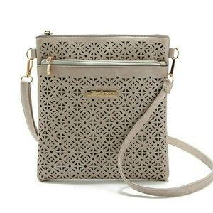 Breaux-Mode Handbags - SALE ❤ Natural Faux Leather Cross Body