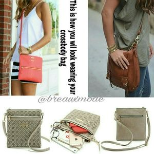 Breaux-Mode Handbags - 🆕 JUST IN ❤ Natural Faux Leather Cross Body