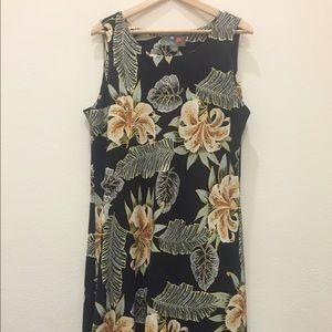 Vintage Silk Hilo Hattie Hawaiian Dress
