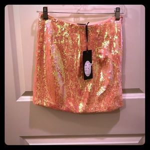 Moon Collection Dresses & Skirts - Cute Pink Sequin Mini Skirt