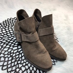 Franco Sarto Shoes - Franco Sarto Gray Kienna Leather Booties