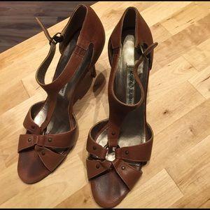 Manolo Blahnik Shoes - Manolo Blahnik brown leather heels made in Italy
