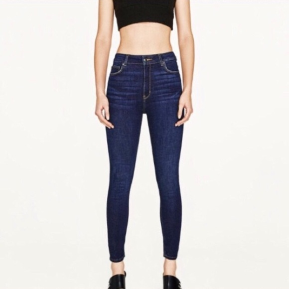 bb4ff53f Zara High Waist Dark Wash Skinny Jeans, Size 2. M_58dbed314e95a3668c1920e1