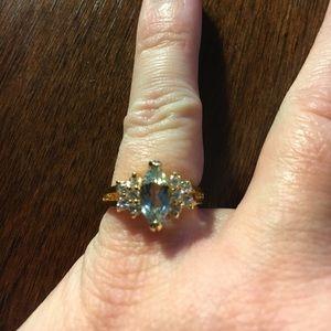 Jewelry - 14K GF CZ Cocktail 2.7g Ring Size 4.75