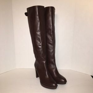 Stuart Weitzman Shoes - STUART WEITZMAN Brown Leather Knee-High Boots