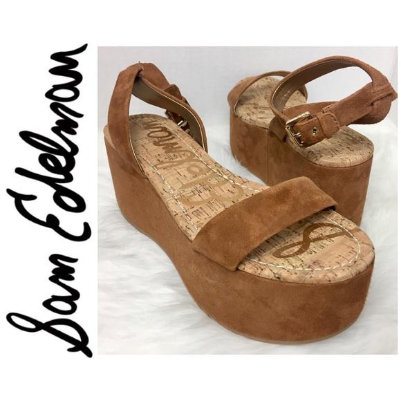 9c849d2657b5 NWOT Sam Edelman Signature Henley Platform Sandals.  M 58da30708f0fc42d8a13532b