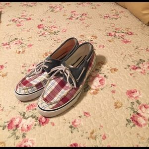 Sperry Top-Sider Shoes - Sperry Topsiders. Great condition. Plaid .