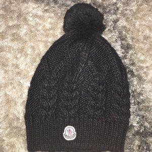 Moncler Accessories - Moncler Black Knit Hat