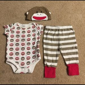 Baby Starters Other - 3 piece set!!! Hat, Top, and Bottoms 3-6 Months
