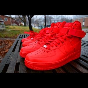 Nike Other - Nike Air Force One red