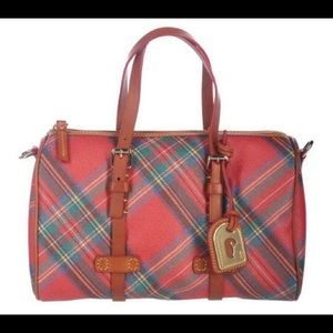 Dooney and Bourke coated cotton plaid satchel ❤️