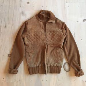 Vintage Suede Knit unisex Jacket